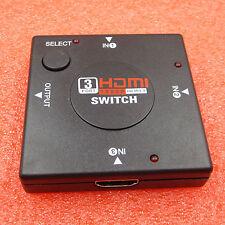 HDTV PS3 1080P MINI Switcher definition video 3 Port HDMI Switch Splitter