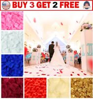 1000Pcs Silk Artificial Rose Petals Romantic Wedding Flowers Home Party Decor US