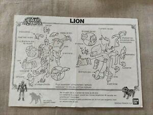 🌺 notice originale  * LION  * Les chevaliers du zodiaque -  1987