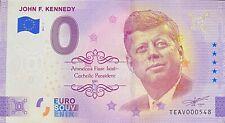 BILLET 0 EURO JOHN F. KENNEDY IRLANDE  2021 NUMERO DIVERS