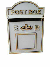 Small Royal Mail Style Wedding Post Box Flat Pack Card Box  MDF ** UNPAINTED **