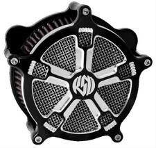 RSD  0206-2033-BM Venturi Turbo Air Cleaner, Contrast Cut Fits Harley EVO TC HB