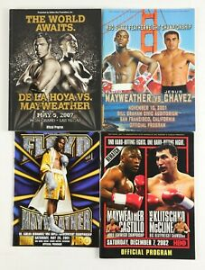 Lot of 11 Floyd Mayweather Boxing Fight Programs
