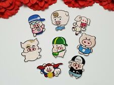 8pc/set, Pig patches, Fashion patch, Small patches, Iron on