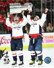 Alex Ovechkin Nicklas Backstrom Washington Capitals Hoist Stanley Cup 8x10 Photo