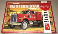 AMT White Western Star Semi Tractor Coca Cola 1:25 scale model kit new 1160