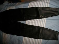LADIES FAUX LEATHER TROUSERS WITH SIDE ZIP FASTENING SIZE 8 - NEW