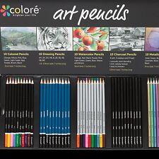 Colore Premium Art Pencils Pack - 50 Assorted Pencil Set For Coloring Pages &...