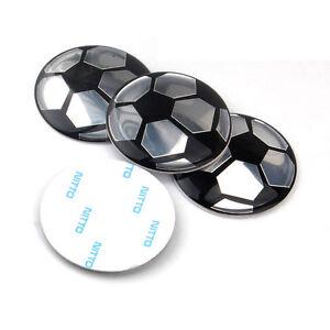 4 pcs 52mm Wheel Center Hub Cover Cap Soccer Football Emblem Sticker Mini