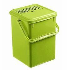 Rotho Komposteimer Bio, Plastik, 8 l, hellgrün, geruchsdichter Deckel