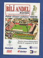Orig.PRG   EC 2   1998/99  SPARTAK TRNAVA - FC VARDAR SKOPJE  !!  SELTEN