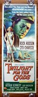 TWILIGHT FOR THE GODS Original 1958 American Insert Movie Poster Cyd Charisse