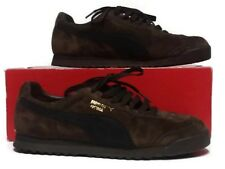 PUMA Classic Roma Women s Brown Black Suede Athletic Casual Shoes Sz 9 72eb61665