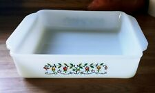 "Vintage Anchor Hocking Fire King 'Tree of Fruit' Baking Dish 8 x 8"" sq."
