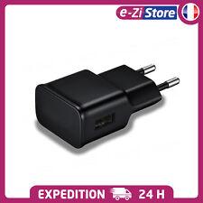 CHARGEUR SECTEUR 2A USB NOIR PRISE ADAPTATEUR POUR IPHONE SAMSUNG SMARTPHONE