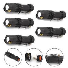 5 x Mini CREE Focus LED Flashlight Torch Q5 Zoomable Light Adjustable Lamps UK