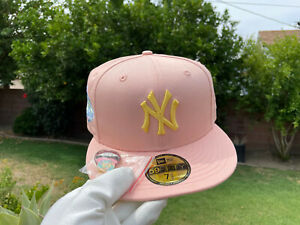 New Era Blush Sugar New York Yankees 1999 World Series Apricot SIZE 7 1/2