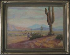 ANTIQUE AMERICAN IMPRESSIONIST OIL PAINTING AZ? CA? WESTERN CACTUS HENRY B GOODE