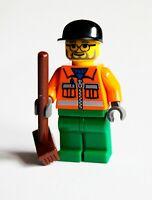 Lego Minifigur Bauarbeiter mit Besen