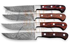 Damascus Steel  Blades ,STEAK Knife set <>>>>04 piece