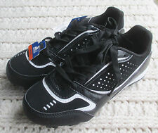 New Boys 13/2/4/6 Cleats Baseball/Softball Sneakers Black White Trim STARTER
