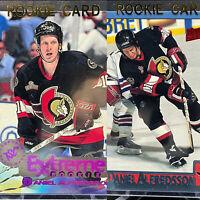 Daniel Alfredsson 2 Rookie Card Lot🔥Bowman Topps Stadium Club Ottawa Senators