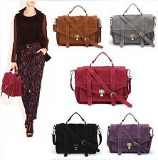 Celebrity Vintage Gossip Girl Faux Suede Briefcase Totes Handbags Women Bags
