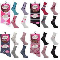 3 x Womens Ladies Diabetic Travel Socks Non Elastic Soft Cotton Gentle Grip