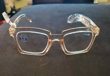 Peepers Standing Ovation Glasses Tan  Square Frame +2.00 Blue light NEW w/case