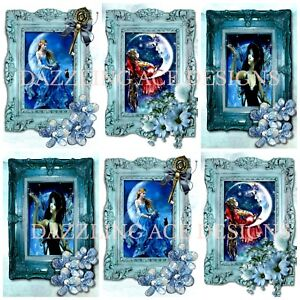 FANTASY MOON Embellishments (12), Card Making Toppers, Card Toppers