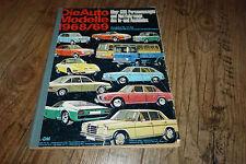Auto Modelle Katalog 1968/1969
