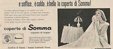 W1765 Coperte di SOMMA coperte di sogno - Pubblicità del 1958 - Vintage advert