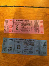 (2) 1975 1976 San Antonio Spurs ABA Basketball Playoff Ticket GAME 8 Lot