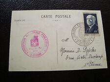 FRANCE - carte 27 28/5/1950 (expo philatelique saint etienne) (cy22) french