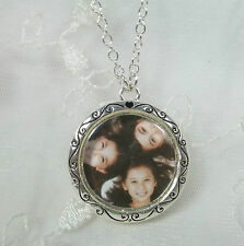 Photo Frame Necklace Faith Hope Love Fashion Jewelry New
