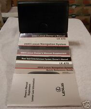 **MINT** 2003 Lexus LX 470 Owners Manual Set Case 03