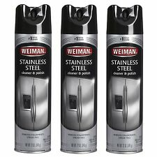 Weiman Stainless Steel Aerosol Cleaner & Polish - 3pk x 12oz