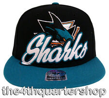 San Jose Sharks Retro 47 Slam Dunk Hat Cap Snapback Black Blue