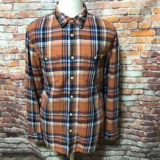 LUCKY BRAND MEN'S PLAID WOVEN COTTON LONG SLEEVE CASUAL SHIRT SIZE M A33-27