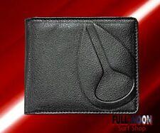 New Nixon Haze Black Faux Leather Mens Bi-Fold Wallet