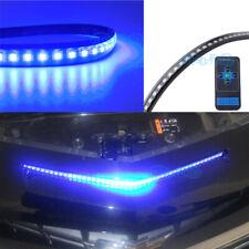 "24"" Blue LED Light Bar Knight Rider Strip Light For Under Hood Behind Grille"