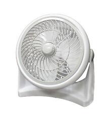 12 Inch Floor Table Fan Room Air Circulator White Small & Powerful