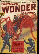THRILLING WONDER STORIES 1938 DEC-COOL SCI-FI PULP-RARE VG/FN