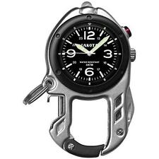 Dakota Silver Watch Zip Clip - Brushed Alloy Case/LED Microlight/Water Resistant