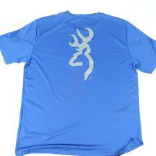 BROWNING LOGO T SHIRT Hunting t-shirt Lightweight Polyester Blue XL