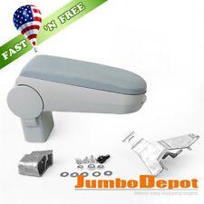 US Grey Center Console Armrest Box w/ Cloth Padding Fit VW Jetta Bora MK4 99-04