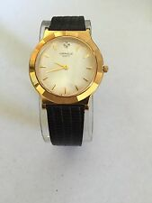 Caravelle by Bulova Women's Analog Diamond Quartz Vintage Leather Watch 42M25