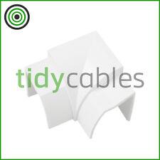 D-Line 22x22mm Quadrant TV Floor Cable Tidy - Internal (Flat) Bend Connector