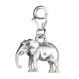 Sterling Silver Elephant Clip On Charm - (Loxodonta)