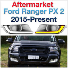 COB Pair Ford Ranger PX2 T6 XL XLT XLS 2015-ON White LED DRL Daylight Fog Lamp A